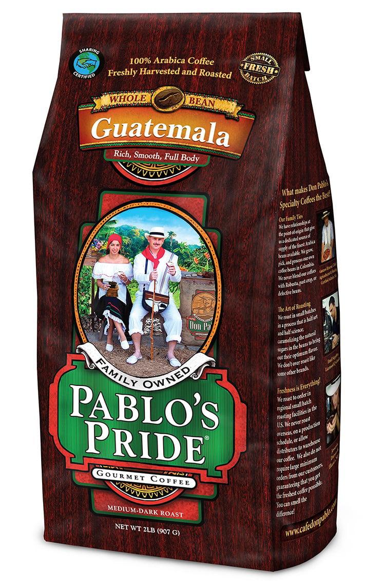 Pablo's Pride Guatemalan Whole Bean Coffee, Medium-Dark Roast, 32 Oz - Walmart.com - Walmart.com
