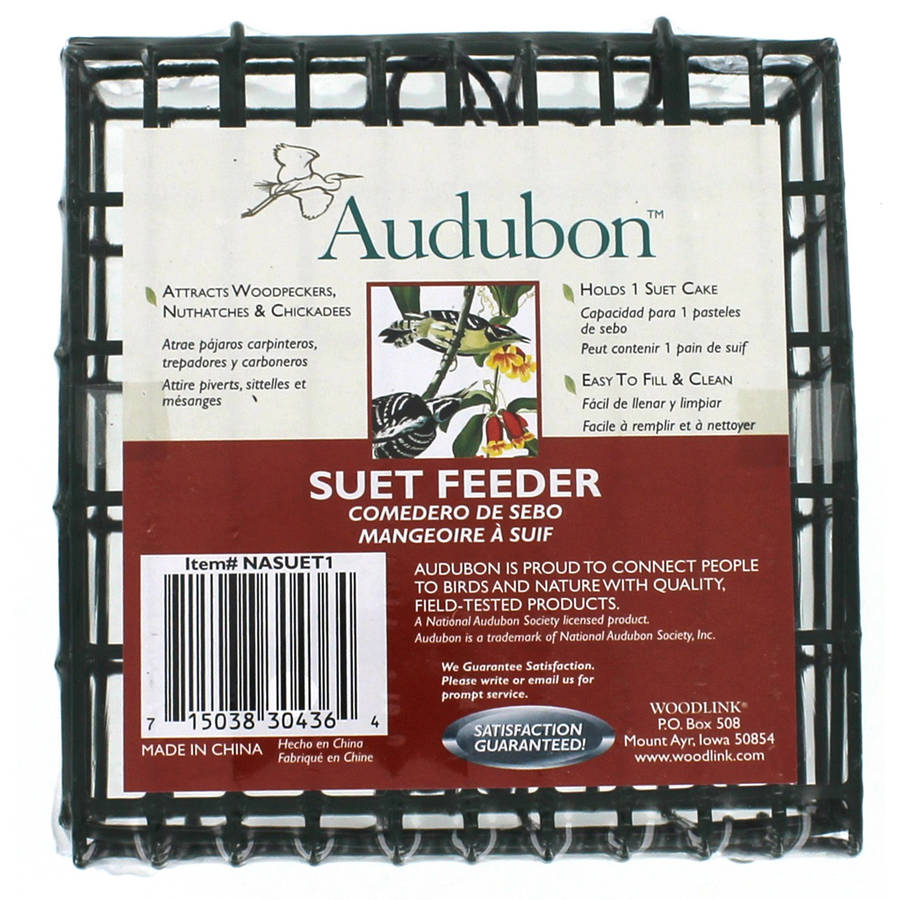 Audubon NASUET1 Single Suet Cage Feeder by Akerue Industries L & G