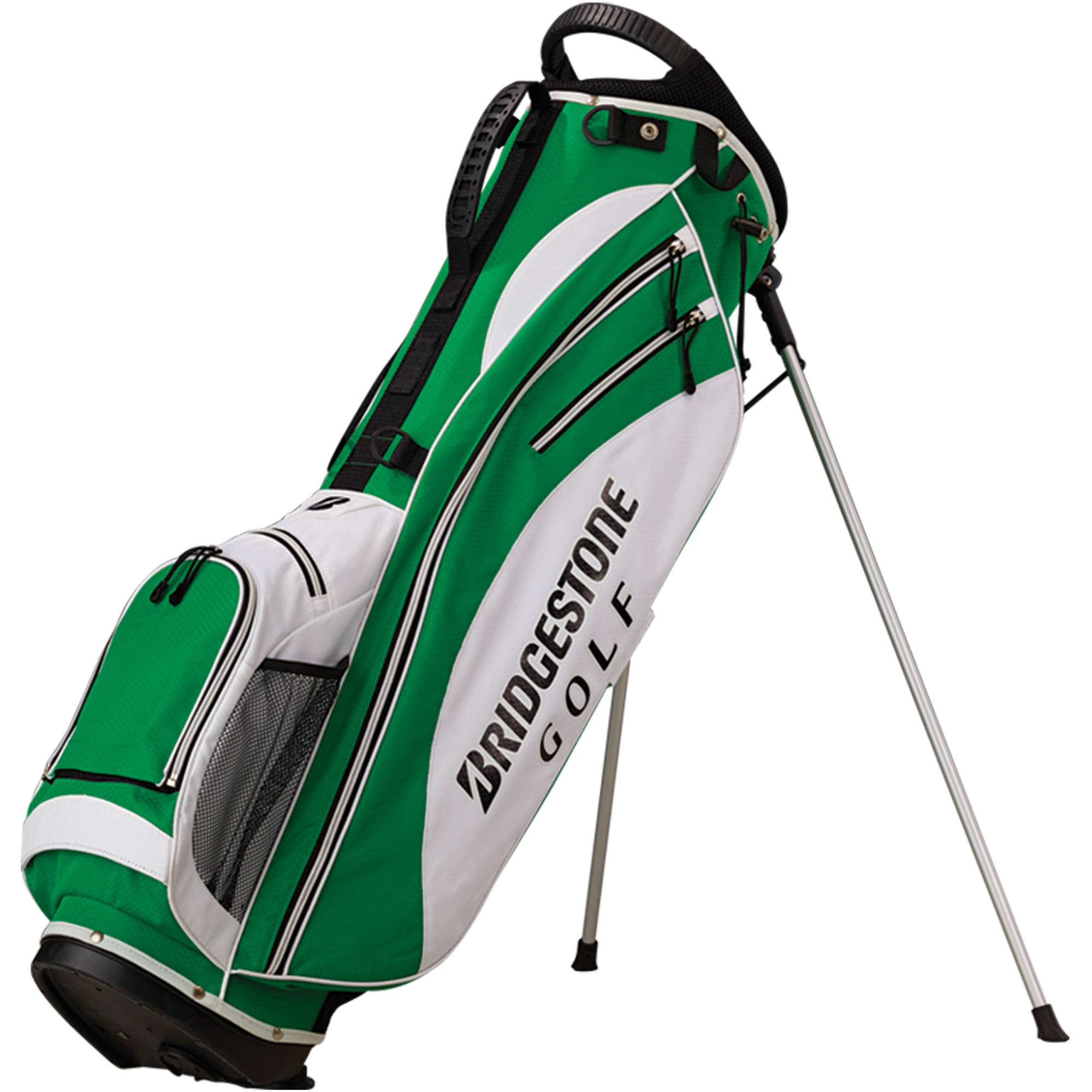 "Lightweight Stand Bag, 7"" x 9.5"", Green/White/Black"