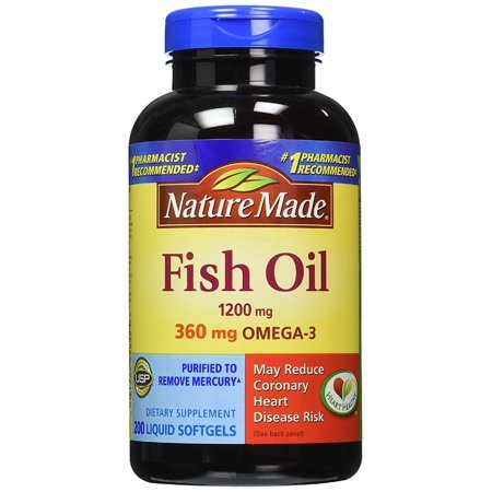 Nature Made Omega-3 Fish Oil Softgels, 1200 Mg, 200