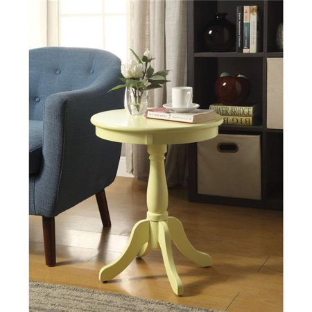 Benzara Traditional Style Wooden Round Side Table with Turned Pedestal Base, (Traditional Pedestal Base)