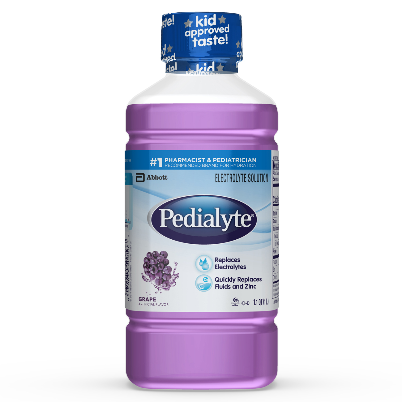 Pedialyte Electrolyte Solution, Hydration Drink, Grape, 1 Liter