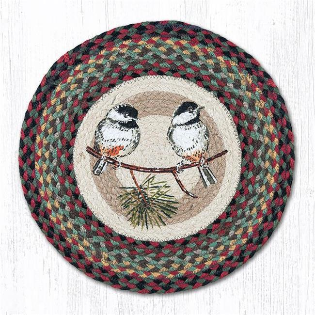 15.5 x 15.5 in. Chickadee Printed Round Chair Pad - image 1 of 1