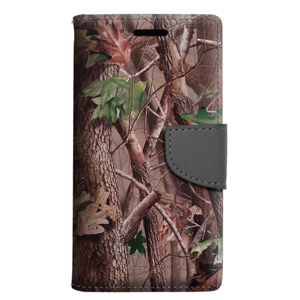 LG Harmony Wallet Case - Tree Camouflage Hunter Sunset Case