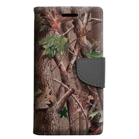 official photos d8b2e 6b090 Samsung Galaxy Luna Wallet Case - Tree Camouflage Hunter Sunset Case -  Walmart.com