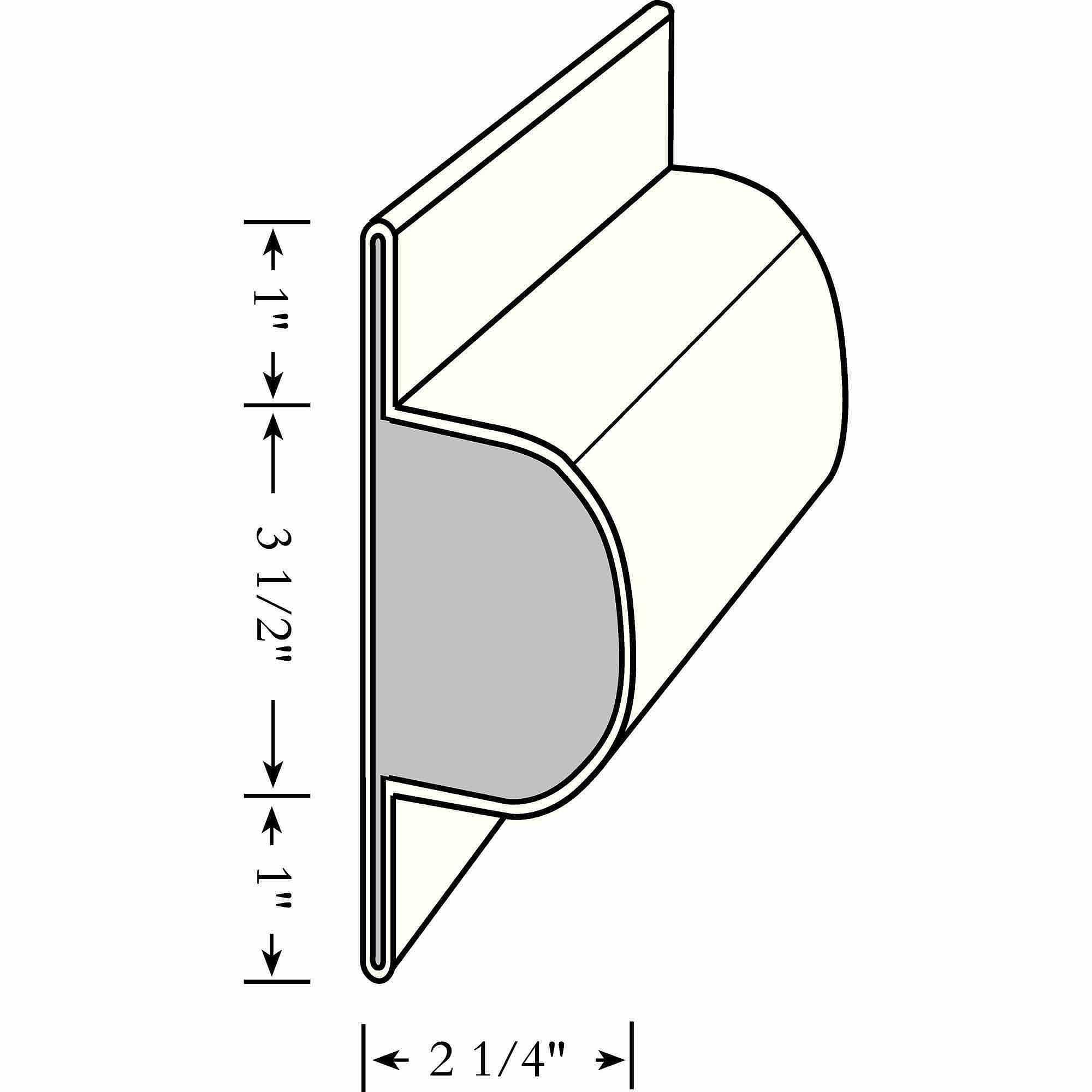 "Taylor Perimeter Single Lock and Post Bumper, Large 5-1/2"" x 2-1/4"""
