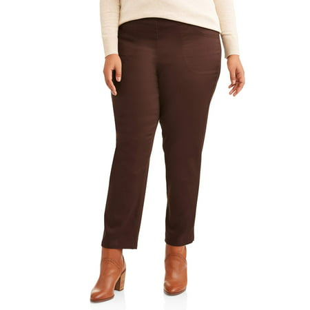 366ecf1ec32 Just My Size - Women s Plus-Size 2-Pocket Pull-On Stretch Woven Pants