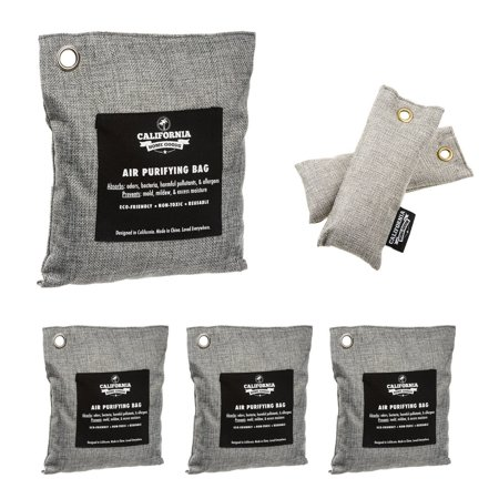 6pk Naturally Activated Air Purifying Charcoal Deodorizer Bags Assorted Sizes
