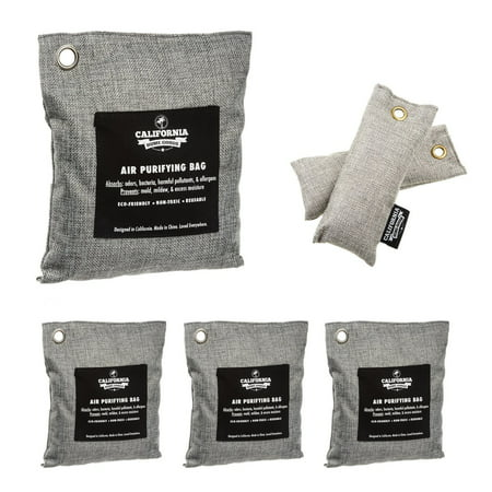 6pk Naturally Activated Air Purifying Charcoal Deodorizer Bags Assorted