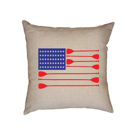 Awesome Rowing Crew Team American Flag Oars Decorative Linen Throw Classy American Flag Decorative Throw Pillow