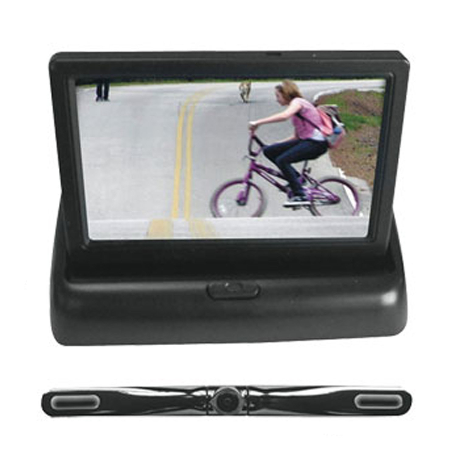 Pyle 4.3 Inch Pop Up Monitor With Bar Camera