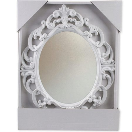 White Oval Vintage Wall Mirror - Maple Oval Mirror
