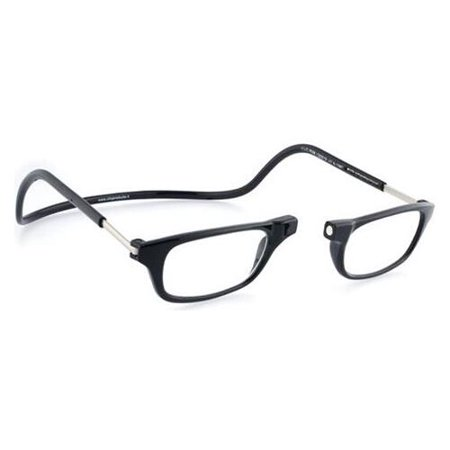 CliC Original +1.75 Reading Glasses Black Frame Clear Lenses Size (Glasses Frame Size Guide)