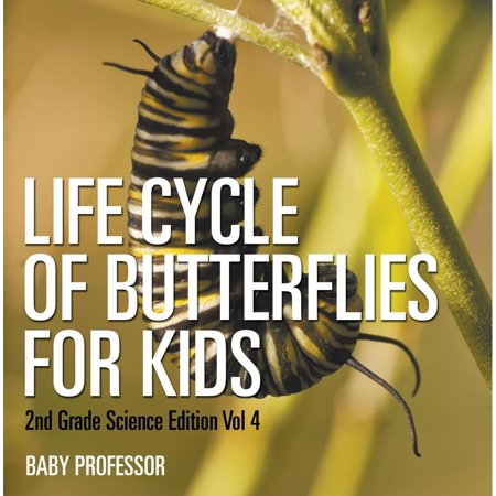Life Cycle Of Butterflies for Kids | 2nd Grade Science Edition Vol 4 - eBook Insect Life Cycles