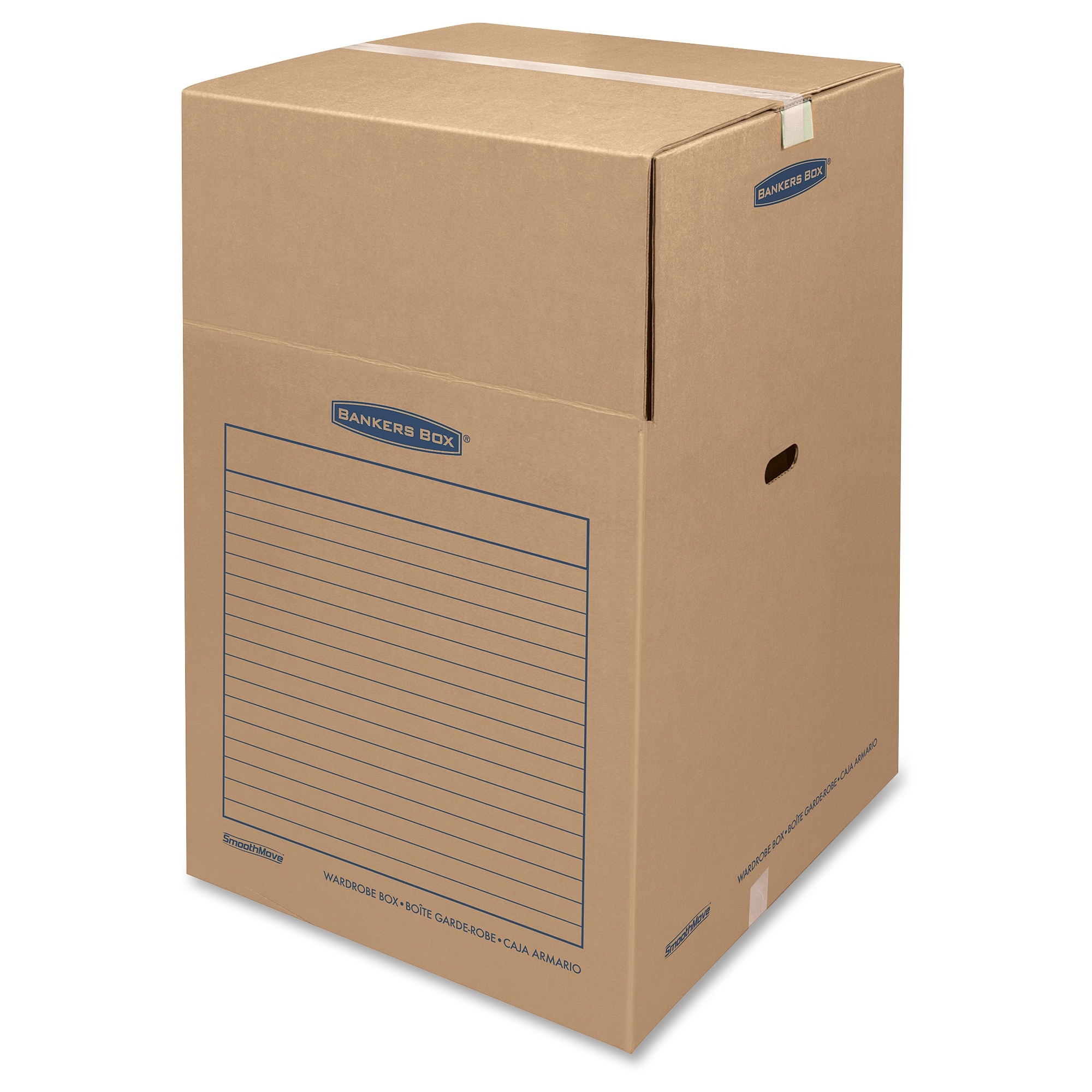 SmoothMove BankersBox Wardrobe Boxes, Large, 3 Count
