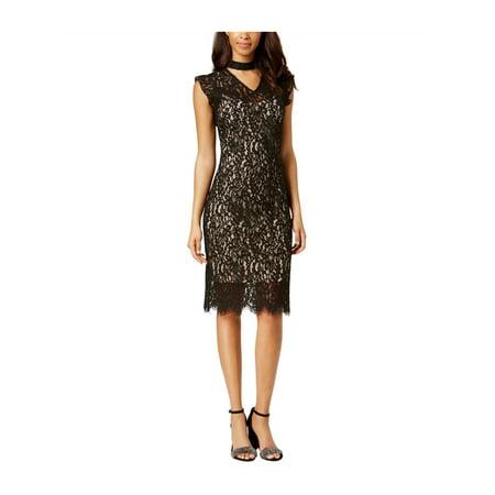 dfb886a584 Bar III - bar III Womens Lace Choker A-line Dress - Walmart.com