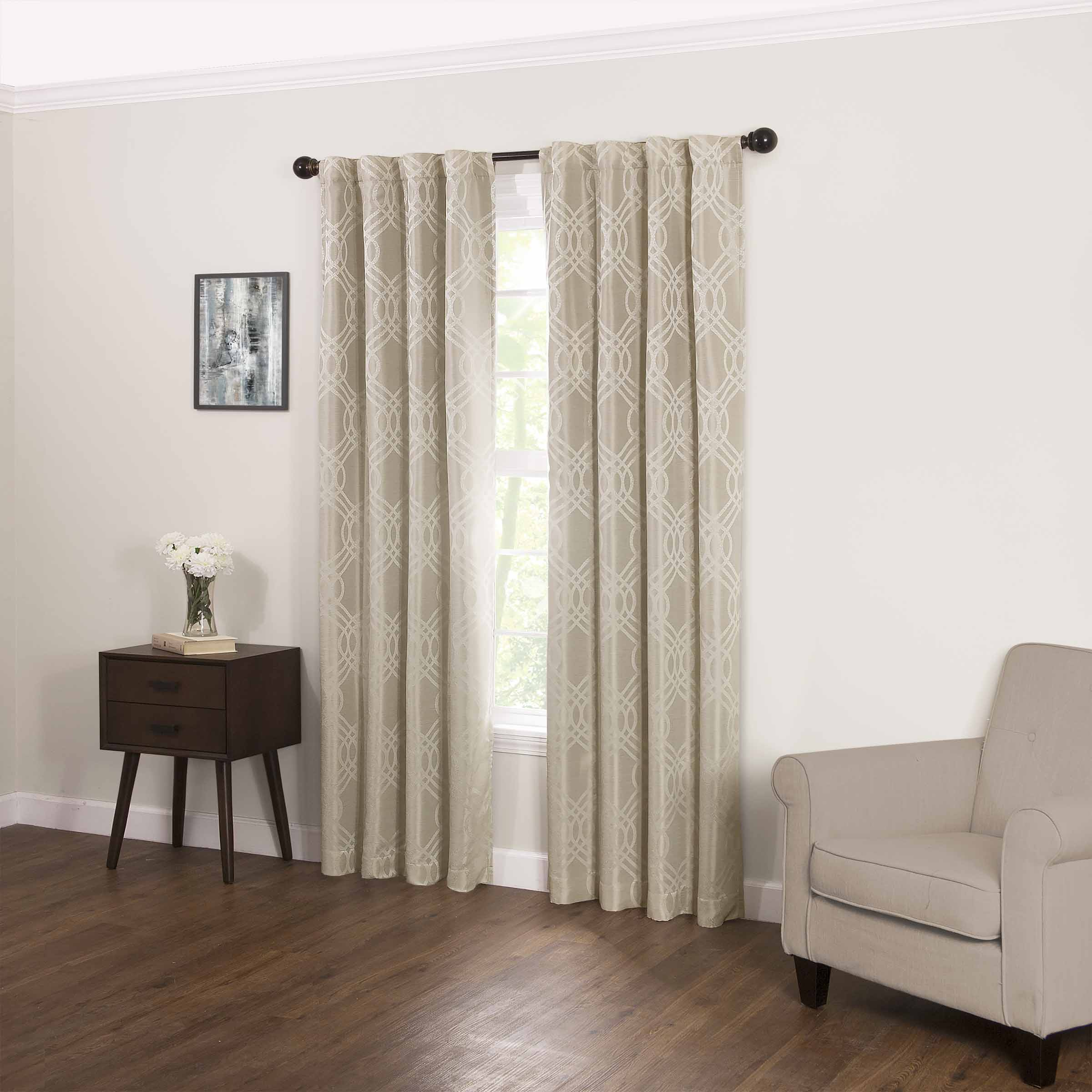 Eclipse Zana Trellis Fashion Blackout Curtain Panel