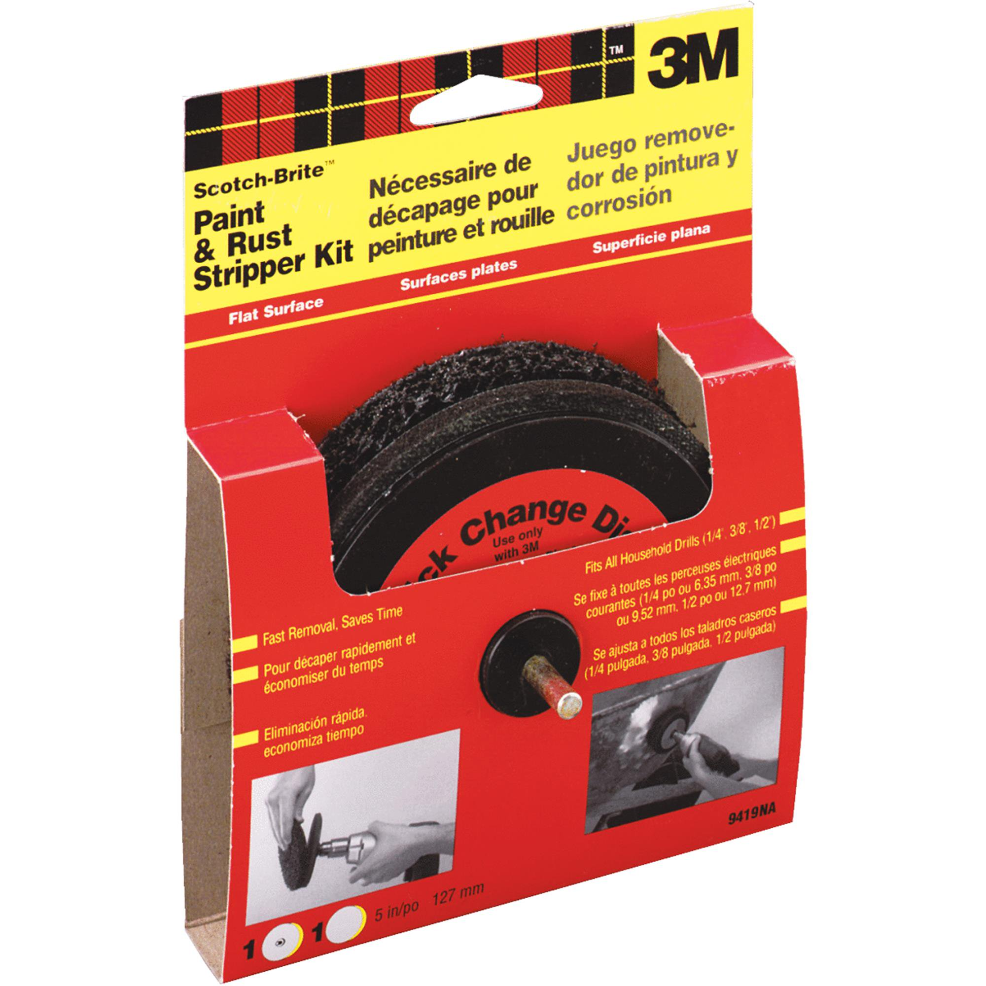 3M 9419NA Scotch-Brite Paint and Rust Stripper Kit Flat Surface by 3M