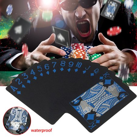 Waterproof Black Playing Cards Plastic Poker Collection Cards Deck Valuable Creative Cool Bridge Card Games Texas Holdem
