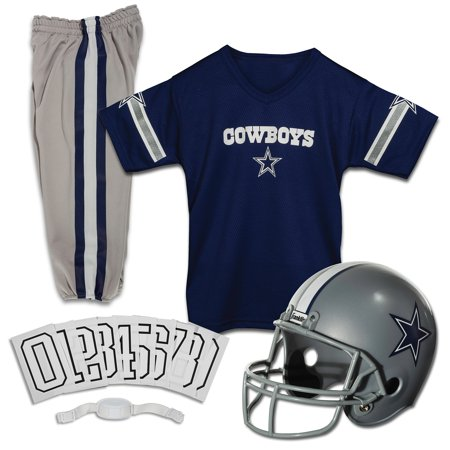 Dallas Cowboy Cheerleading Outfit (Franklin Sports NFL Dallas Cowboys Youth Licensed Deluxe Uniform Set,)