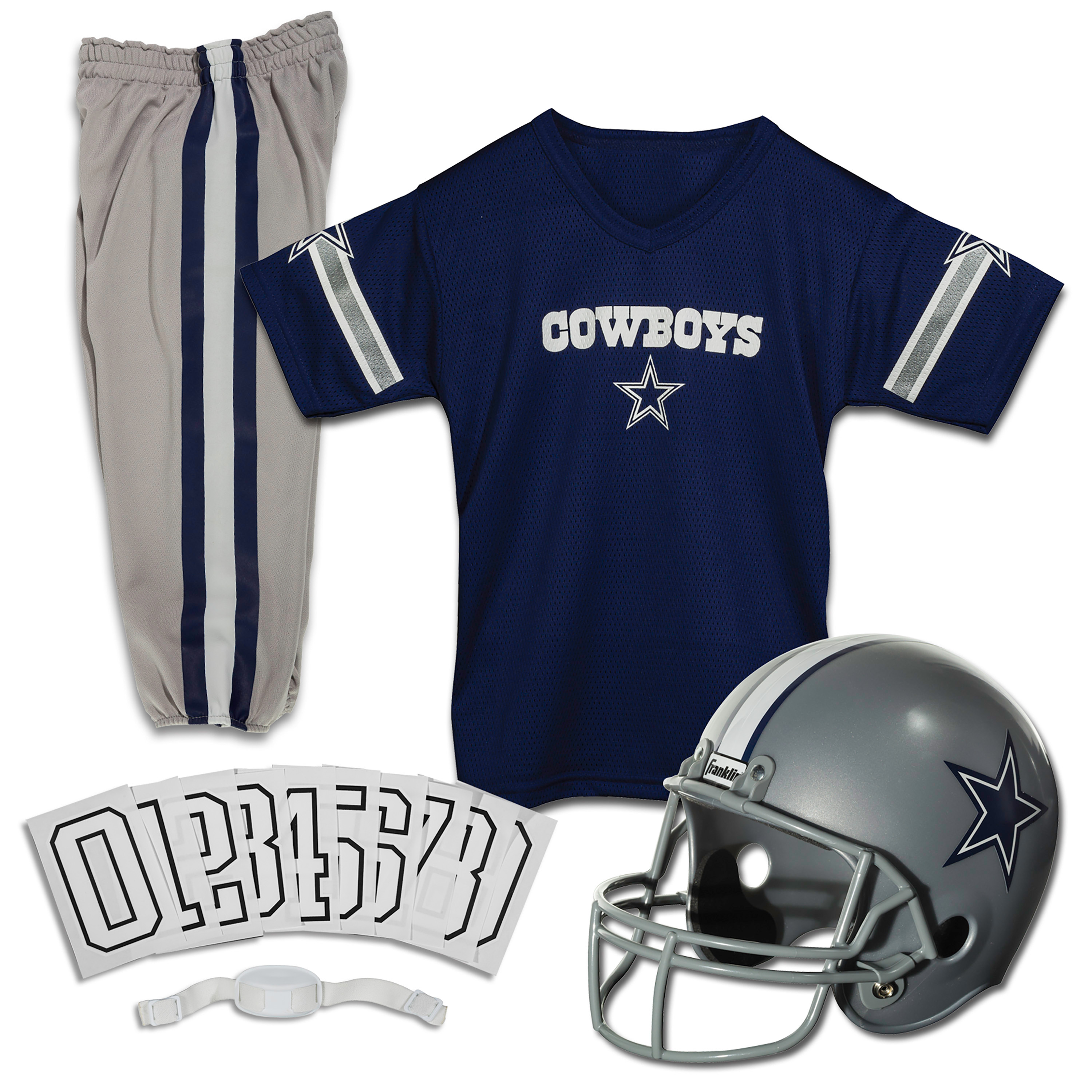 Franklin Sports NFL Dallas Cowboys Youth Licensed Deluxe Uniform Set, Small