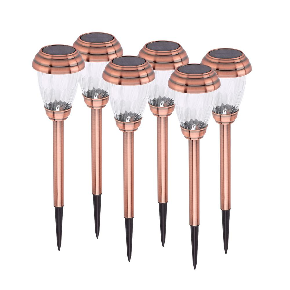 Charleston Solar Pathway Lights - Copper 6-pack
