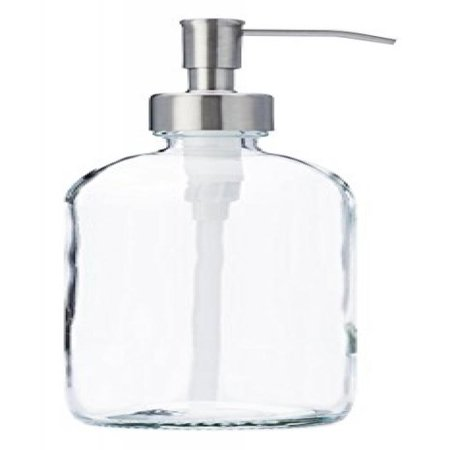 Clear Gl Jar Soap And Lotion Dispenser With Stainless