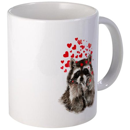 CafePress - Raccoon Blowing Kisses Cute Animal Love Mugs - Unique Coffee Mug, Coffee Cup CafePress (Cute Cups)