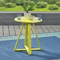 Lola Outdoor Iron Bistro Table, Matte Orange
