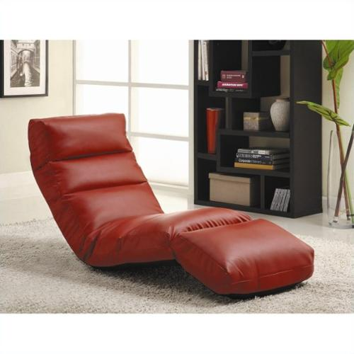 This button opens a dialog that displays additional images for this product with the option to zoom in or out.  sc 1 st  Walmart & Homelegance Gamer Floor Lounge Chair - (Red) - Walmart.com