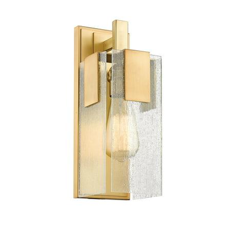 106 Vintage Brass Finish (Wall Sconces 1 Light With Vintage Brass Finish Steel Medium Base Bulb 5 inch 60 Watts )