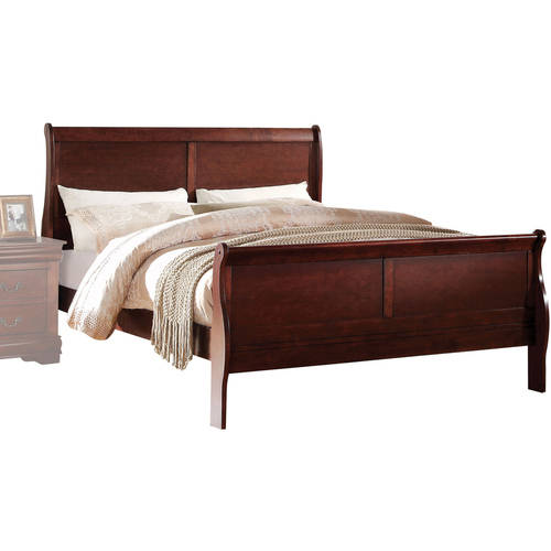 Acme Louis Philippe Queen Bed, Cherry