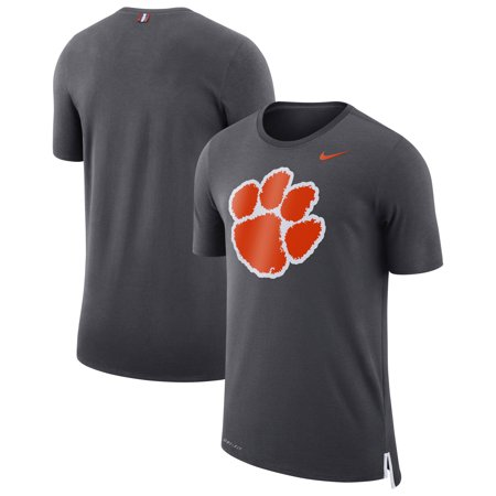 Clemson Tigers Nike Travel Meshback Performance T-Shirt - Anthracite