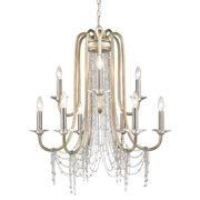 Golden Lighting Sancerre 1425-9 WG Chandelier - White Gold
