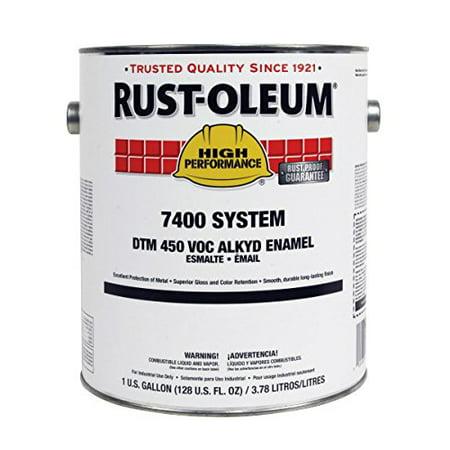 Rust-Oleum 2766402 7400 System Alkyd Enamel, High Gloss White, 1