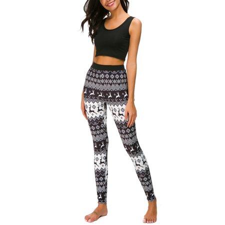 1f1b9bbfafb Himone - Christmas Xmas Women 3D Print Leggings Stretchy Casual Vintage  Slim Skinny Sport Pencil Pants Plus Size - Walmart.com
