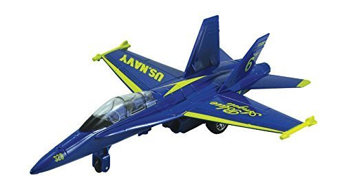 """9"""" X-Planes US Navy F-18 Hornet Blue Jet Toy with Pull Back ActionPullback-and-Go Action! By Kinsmart by"""