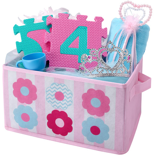 Little Bedding by NoJo Collapsible Storage, Tickled Pink