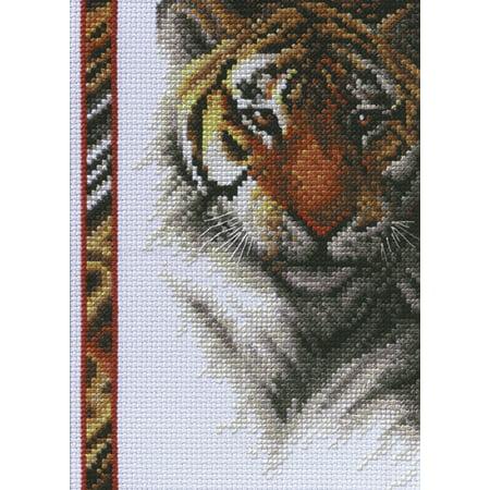 Janlynn Tiger Wildlife Mini Counted Cross Stitch Kit, 5