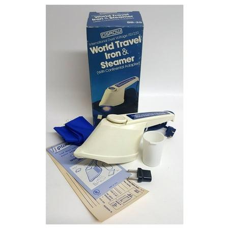 Vintage 1981 Osrow International Dual Voltage 110/220 World Travel Iron & (Best Dual Voltage Travel Steamer)