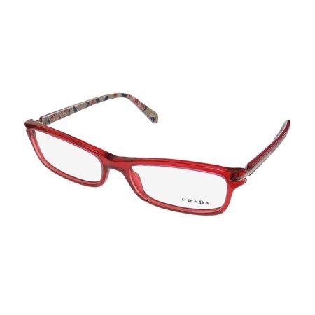 c034793d6e67 New Prada Vpr14n Womens Las Cat Eye Full Rim Red Gunmetal Frame