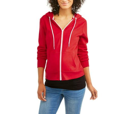 Sleeve Maternity Hoodie - Maternity Zip Up Hooded Sweatshirt