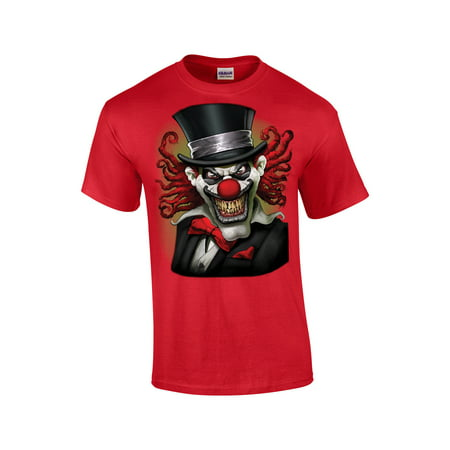 Clown Dark T-shirt (Clown T-Shirt Crazy Clown With A Top Hat )