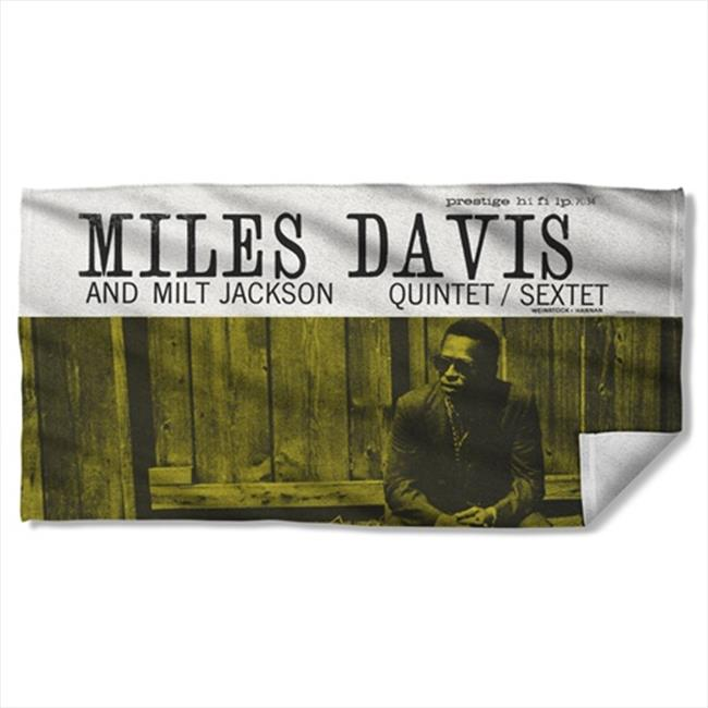Trevco CM134-BTW1-0 30 x 60 inch Concord Music And Miles And Milt Beach Towel - White