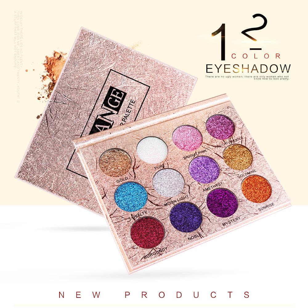 Fashion 12 Colors Make Up Luxury Golden Matte Nude Eye