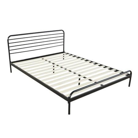 ktaxon queen king full metal platform bed frame mattress foundation wood slat support. Black Bedroom Furniture Sets. Home Design Ideas