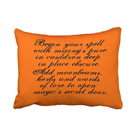 WinHome Halloween Reversible Pillow Covers Original Poem Text Throw Pillow Covers Cushion Cover Case 20X30 Inches Pillowcases Two Side](Original Halloween Name)