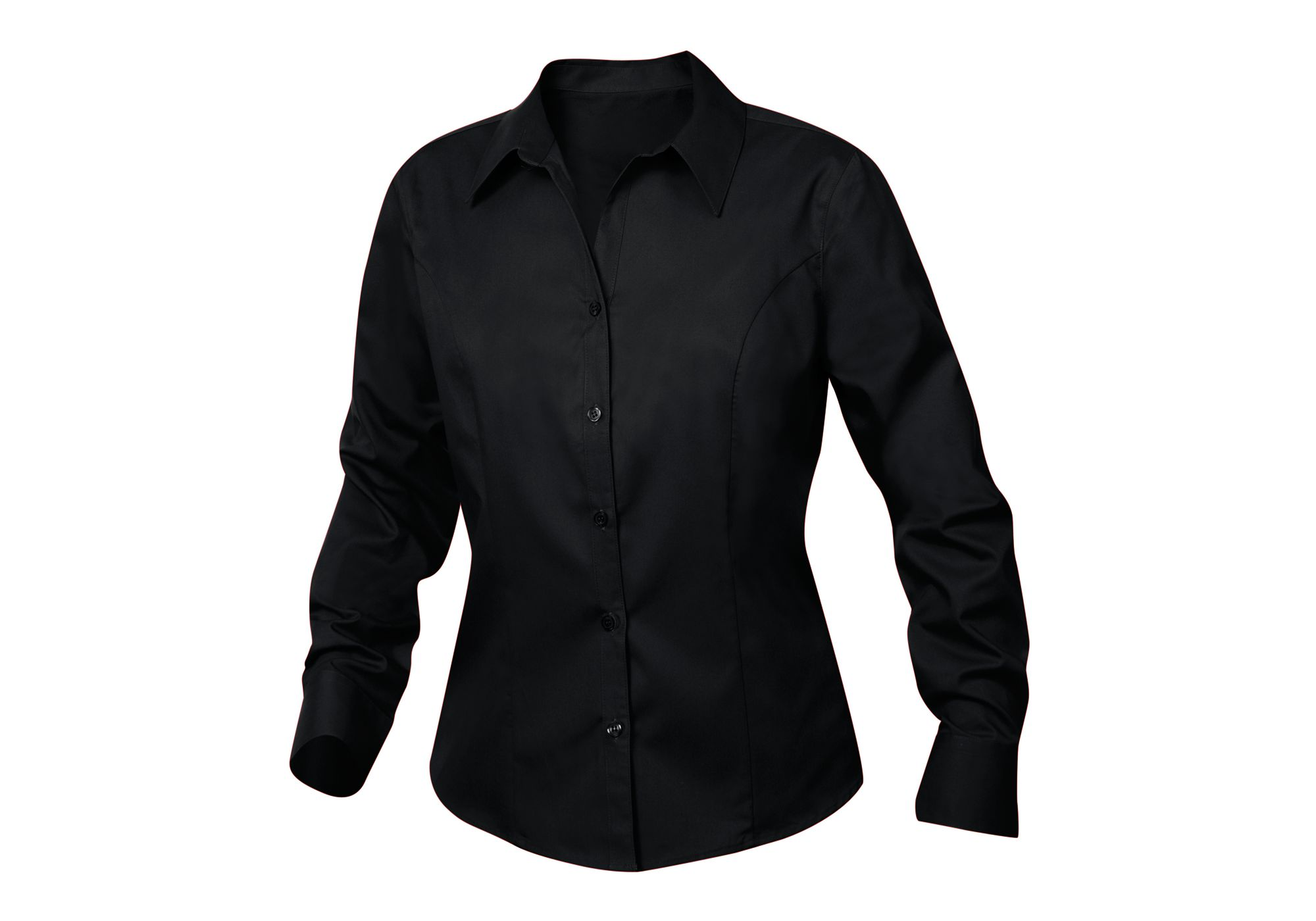 Clique/New Wave Women's Long sleeve Caitlin Twill, Black - 4X