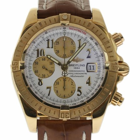 Pre Owned Breitling Chronomat K13356 Gold Watch Certified Authentic Warranty