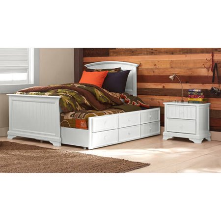 Better Homes Gardens Kids Sebring Twin Captain Bed Trundle White